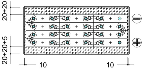 conexion bateria 24v 375ah
