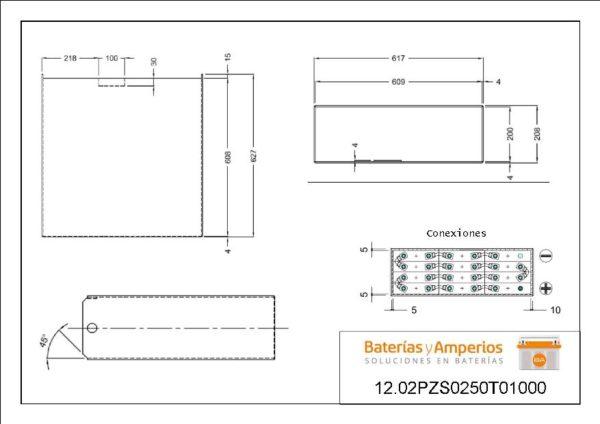 plano bateria porta palete 24v 250ah