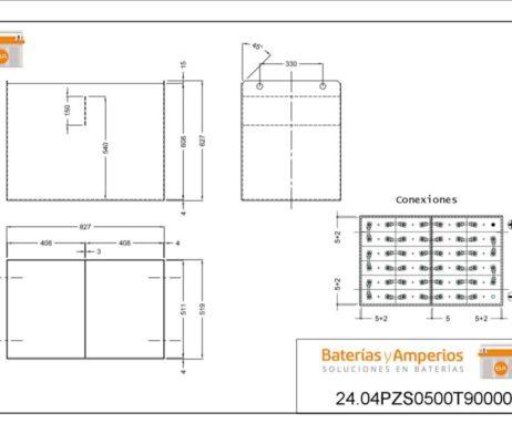 baterias y amperios- t9000