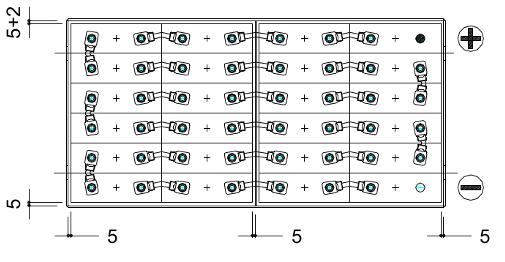 bateria carretilla cat 48V 375Ah
