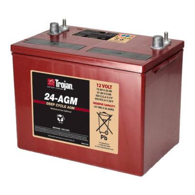 bateria agm 12v 84ah trojan ciclo profundo
