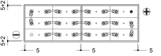 conexion bateria traspalet 24v 500ah