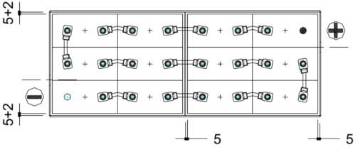 conexiones bateria porta paletes 24v 625ah