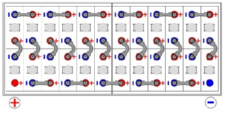 batería tracción 48V  620Ah