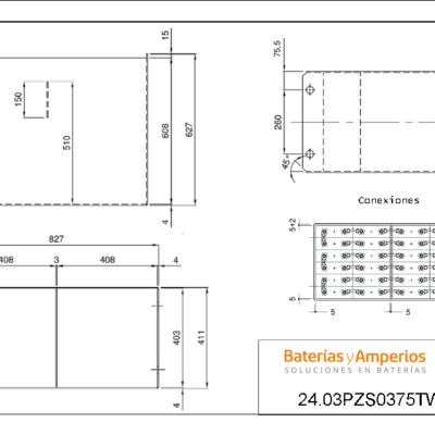 baterias y amperios- bateria 48 V 375Ah