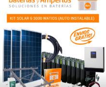Kit solar casas de campo