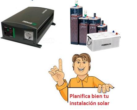 batería para instalación solar