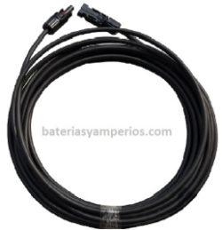cable con terminales conexion placa solar