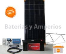 kit solar basico para iluminación 400w