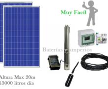 kit Bombeo solar 20m 13000 litros