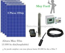 kit Bombeo solar 80m 15000 litros