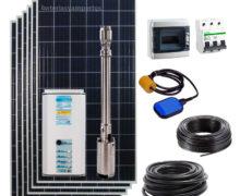 kit bombeo solar con placas para pozo hasta 80m