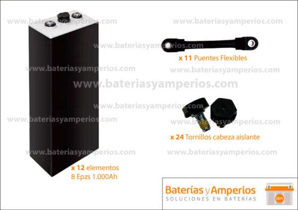 bateria traccion 24v 1000ah sin cofre