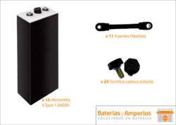 bateria tracción 24v 1000ah sin cofre