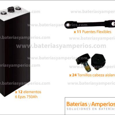 bateria tracción 24v 750ah sin cofre