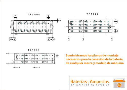 conexion bateria 24v 180ah sin cofre