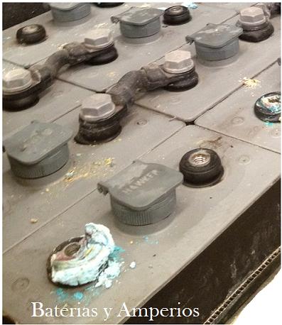 Sulfato bateria carretilla reparacion y mantenimiento