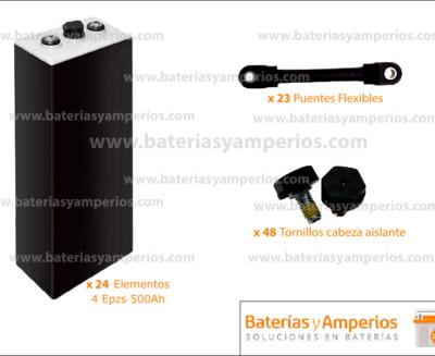 kit bateria sin cofre 48v 500ah