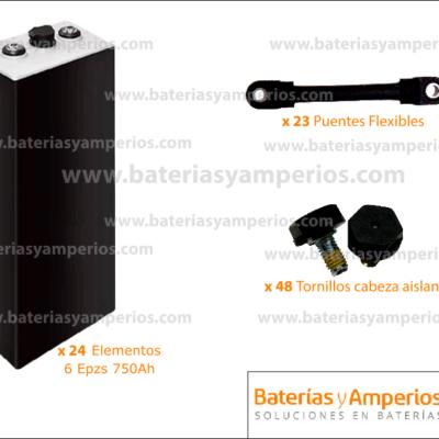 kit bateria traçao 48v 750ah