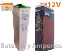 baterias solares 12v para instalaciones fotovoltaicas