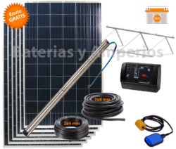 kit bombeo solar 4500 litros hora