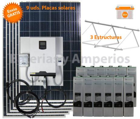 kit solar para vivienda aislada 10.000W