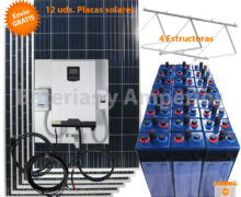 kit solar para casa de campo 10.000W