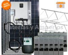 kit solar para vivienda aislada 800W/dia