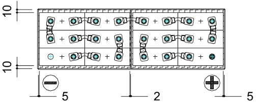 plano conexiones bateria transpaleta eléctrica 24v 300ah