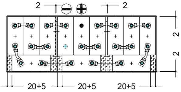 conexiones bateria 24v 620ah para carretilla eléctrica