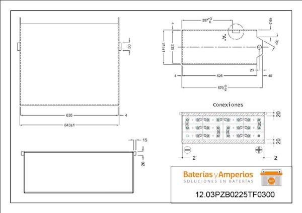 plano bateria traccion 3epzb 225ah
