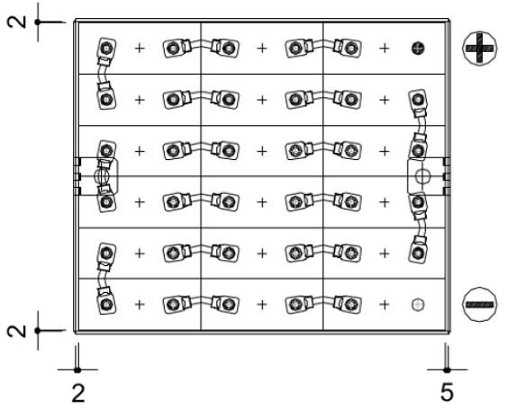sistema conexiones bateria tração 36v 240ah