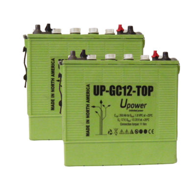 bateria semi traccion 24V Upower GC12 Top