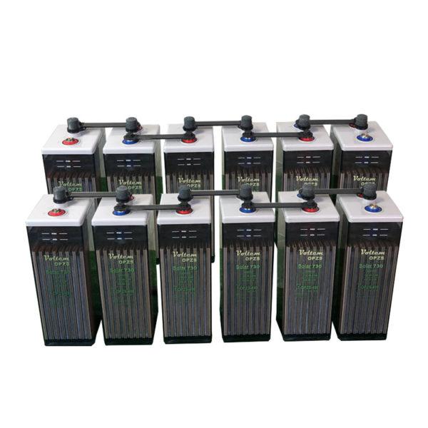 bateria solar 24v 730ah opzs voltem solar