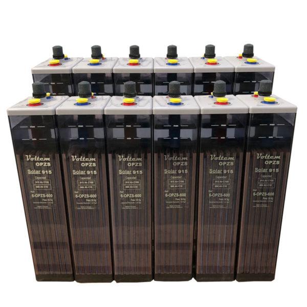 bateria solar 24v 915ah opzs voltem solar