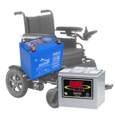 Baterias cadeiras de rodas elétricas