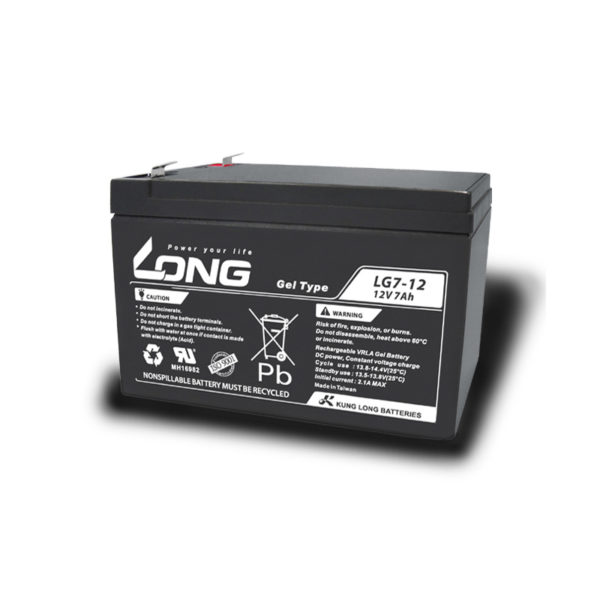 bateria gel 12v 7ah long