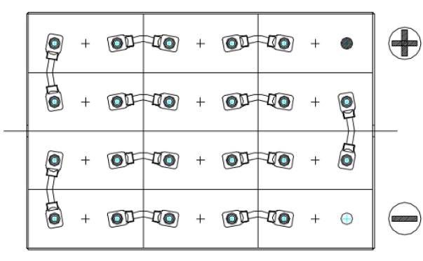 conexiones bateria tracion 24v 400ah
