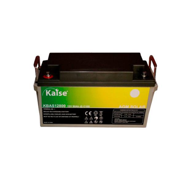 bateria solar agm 80ah 12v kaise