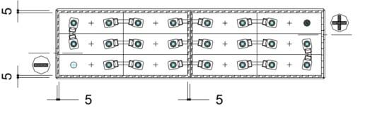 plano conexiones batería carretilla elevadora 24v 240ah