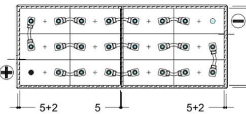 conexiones bateria 24v 775ah