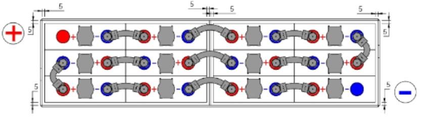 conexiones bateria 24v 345 amperios
