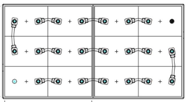 conexiones bateria 24 voltios 875 amperios