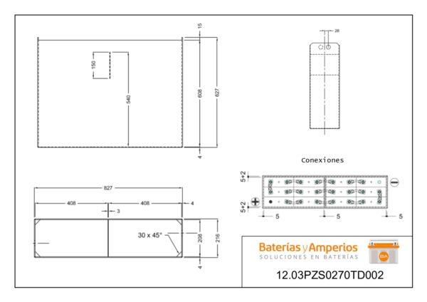 plano bateria 24v 270ah