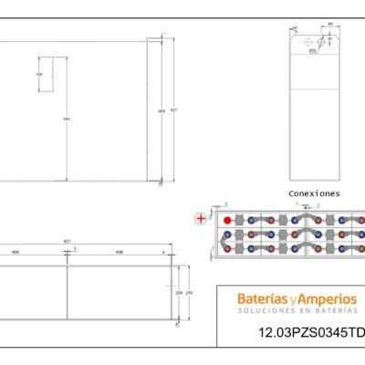 plano bateria 24 voltios 345a