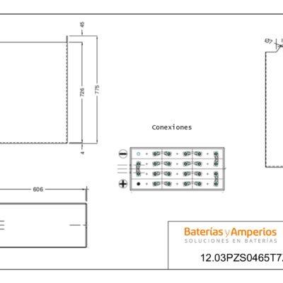 plano bateria 24 voltios 465ah